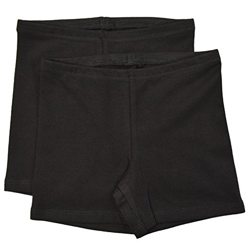 Stretch is Comfort Infant Cotton Biker Shorts Pack of 2 Black Small 6M]()
