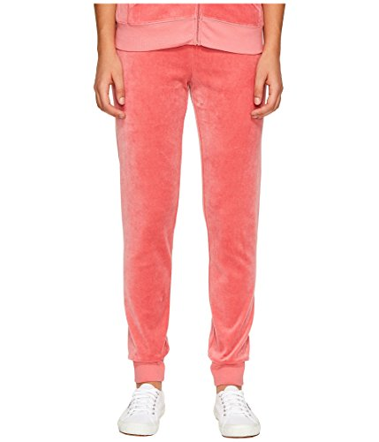 Juicy Couture Women's Zuma Velour Pants Frozen Strawberry Small 29 ()