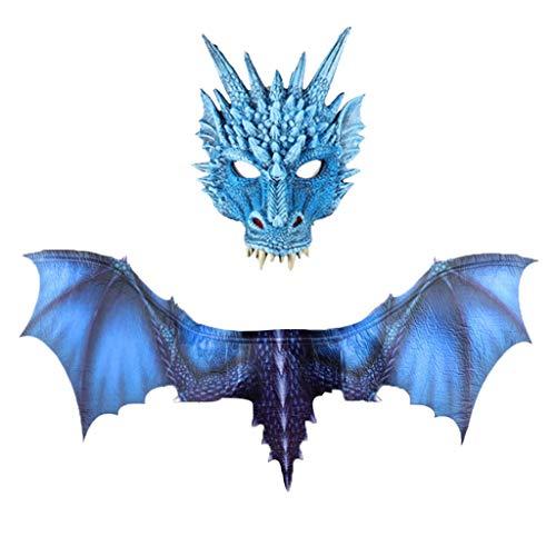 Printable Halloween Book Jackets (Unionm Halloween Props, Halloween Mask, Masquerade Mask, Fantasy Halloween Dinosaurio Dragon Costume Cosplay Animal Mask Wing)