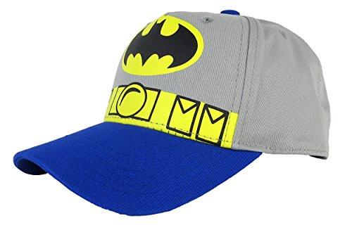 Batman Boys Costume Snapback Baseball Cap Grey (Boys Baseball Costumes)