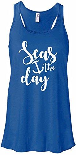 ID-Seas The Day Carpe Diem Seize Funny Beach Anchor Ladies Tank Top, ()