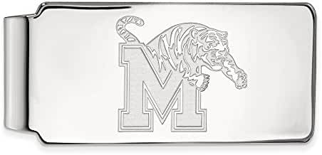 10k White Gold LogoArt Official Licensed Collegiate University of Memphis (UofM) Money Clip