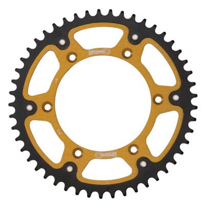 Supersprox Stealth Rear Sprocket 51 Tooth Gold for Honda CRF450R 2002-2018