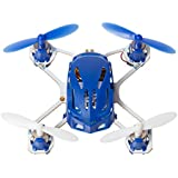 Hubsan H111 Q4 Nano Drone Quadcopter - Worlds Smallest Mini Kids Drone - 2.4 GHz 4CH RC Drone - Exclusive Blue