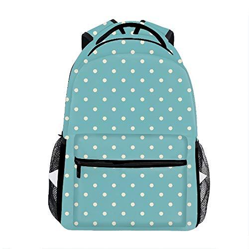 (Mini Dot Turquoise Backpack for Kids School Laptop Backpack School Bags Rucksack Satchel Hiking)