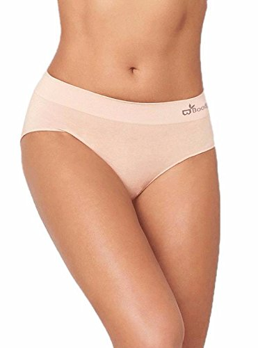 Boody Body EcoWear Women's Midi Brief - Seamless Underwear Made from Natural Organic Bamboo Viscose - Soft Breathable Eco Fashion for Sensitive Skin - Beige, Small, Two Pack