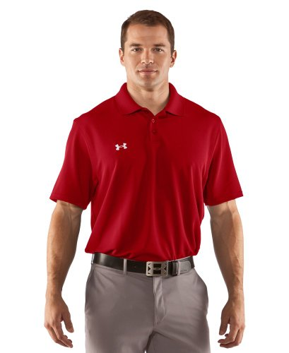 Under Armour Men's UA Performance Team Polo Large Red