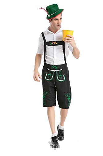 Bavarian Guy Plus Costumes (PINSE Plus Size German Beer Men Oktoberfest Man's Costumes (XXL))