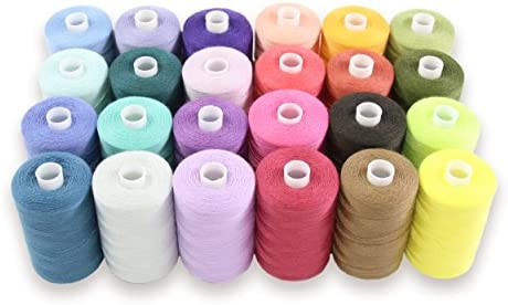21 x New 100/% Polyester Sewing Thread Spools assorted Colours High Quality
