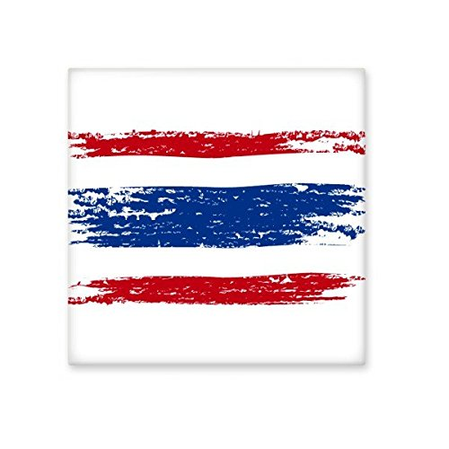 durable service Kingdom of Thailand Thai Traditional Customs Watercolor Drawing Thailand Flag Art Illustration Ceramic Bisque Tiles for Decorating Bathroom Decor Kitchen Ceramic Tiles Wall Tiles