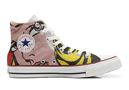 Converse All Star Hi Customized personalisierte Schuhe (Handwerk Schuhe) Blond girls
