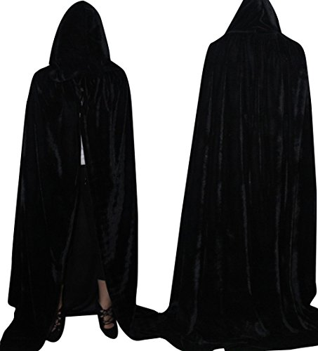 LadyKing Halloween Adults Witch Cloak Wizard Cape Unisex Dress Up Costumes Cosplay