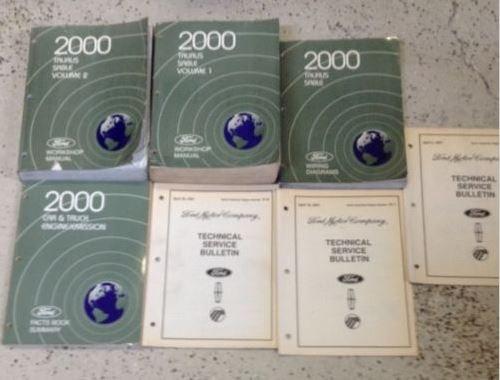 2000 FORD TAURUS MERCURY SABLE Repair Service Shop Manual SET W Wiring + OEM