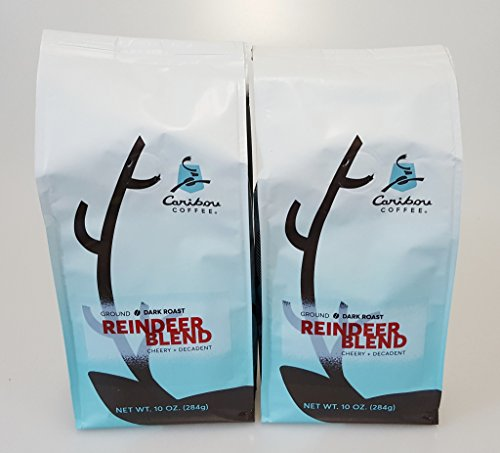 Caribou Coffee Reindeer Intermingling Ground Coffee 2 - 10oz Bags