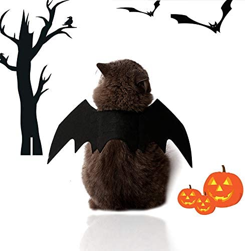 Malier Halloween Cat Costume for Cats Dogs Pet Bat Wings Cat Dog Bat Costume Wings (Small) 21