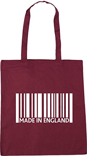 42cm 10 Bag Beach Shopping litres Made Burgundy x38cm Gym in England HippoWarehouse Tote q8wvpx0