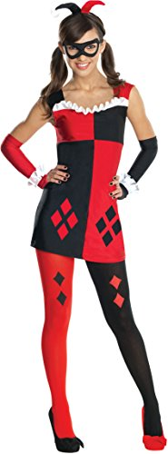 Girl And Guy Halloween Costumes (Rubies DC Super Villains Harley Quinn Tween Costume, Medium)