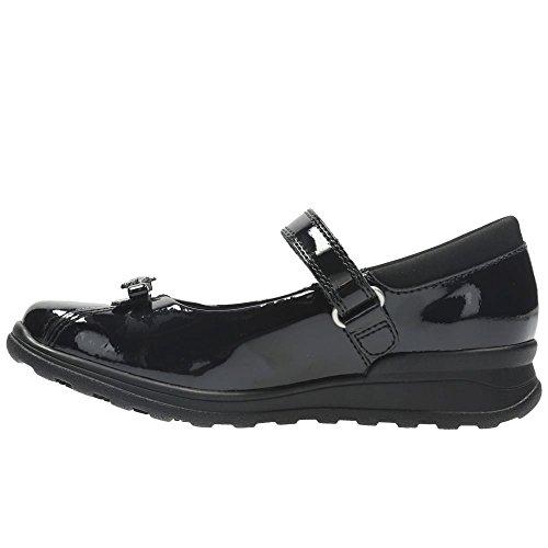 Clarks - Zapatos de cordones de Piel para niña negro (black patent)