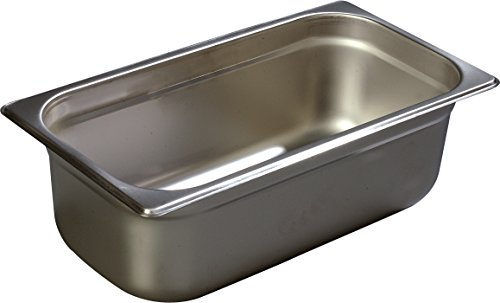 Carlisle 608134 DuraPan Steam Table Pans, Set of 6 (1/3-Size, 4-Inch, Stainless Steel, ()