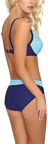 Verano Bikini Push Up para Mujer Nina Azul/Marino