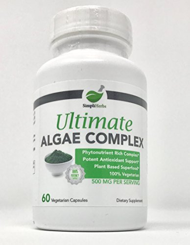 SimpliHerbs Ultimate Algae Complex - Potent Combination Of 4 Antioxidant  Rich Algae Species (Organic Klamath, Organic Spirulina, Chlorella,