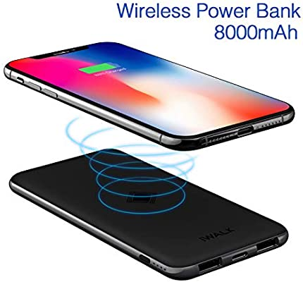 iWALK Qi Wireless Charger Dual USB Power Bank 8000mAh Slim Portable Charging Pad External Battery Pack Compatible with iPhoneXS/X/8/8 Plus,Samsung Galaxy S9/S8/S7/Note8 All Mobile Phone Qi-Enabled - 10166249 , B078NK7ZWR , 285_B078NK7ZWR , 923863 , iWALK-Qi-Wireless-Charger-Dual-USB-Power-Bank-8000mAh-Slim-Portable-Charging-Pad-External-Battery-Pack-Compatible-with-iPhoneXS-X-8-8-PlusSamsung-Galaxy-S9-S8-S7-Note8-All-Mobile-Phone-Qi-Enabled-285_