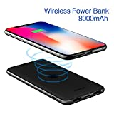 8000 mah power bank - iWALK Qi Wireless Charger Dual USB Power Bank 8000mAh Slim Portable Charging Pad External Battery Pack Compatible iPhoneXS/X/8/8 Plus,Samsung Galaxy S9/S8/S7/S6 Edge+/Note8 all Mobile Phone Qi-enabled