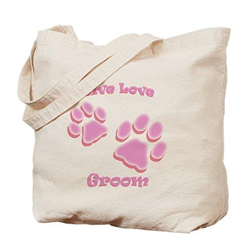 CafePress–Live Love novio–Gamuza de bolsa de lona bolsa, bolsa de la compra