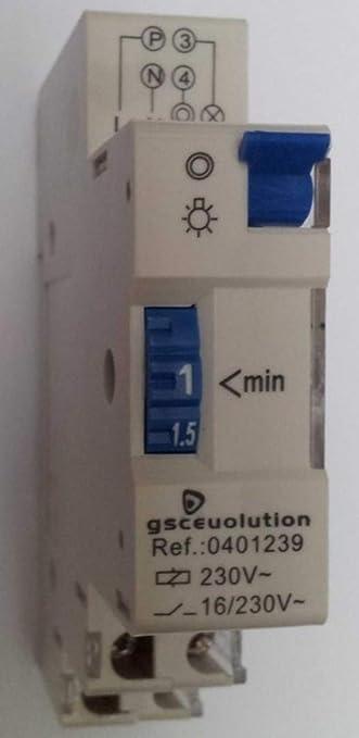 0401239 - Automatico luz escalera carril DIN ref.0401239: Amazon.es: Bricolaje y herramientas