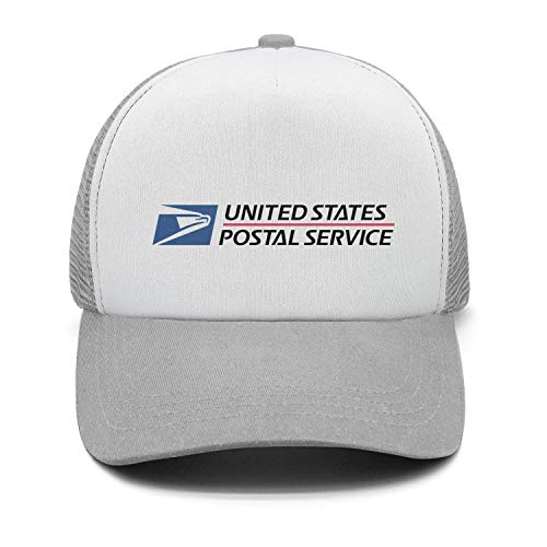 Mens Womens USPS-United-States-Postal-Service-Logo-Grey Casual Adjustable Basketball Cap ()