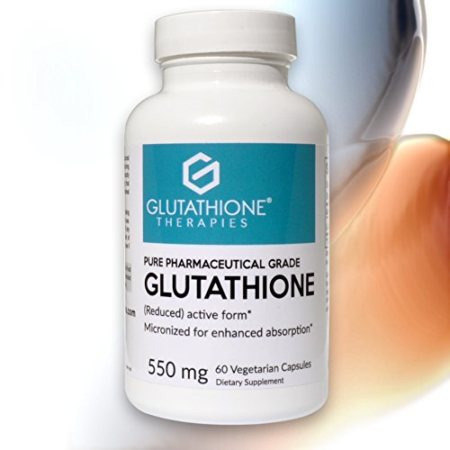Glutathione Therapies – Glutathione Pure 550 Mg. Pharmaceutical Grade Skin Health and Brightening, Liver Health and Detoxification, Super Antioxidant, 60 Vegetarian Capsules For Sale