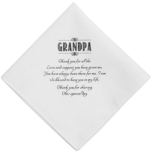 Wishprom Grandpa Hankie Wedding Party Gift