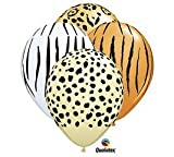 Qualatex Safari Assortment Biodegradable Latex Balloons, 11-Inch (12-Units)