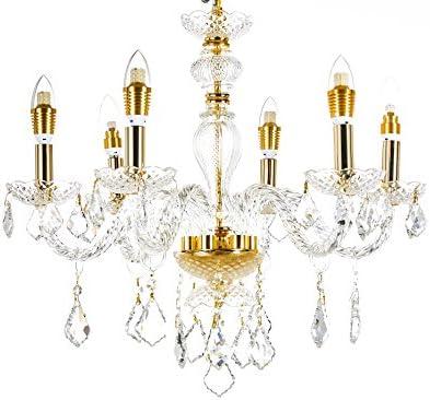 Broadway Gold Classic Crystal Chandeliers Modern Lamps Pendant Light Fixture BL-GJH D-L6 W23 X H20 Inch