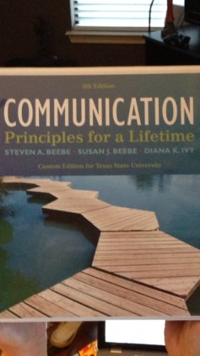 Communication Principles for a Lifetime 5th Editio