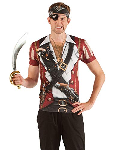 Adult Size Faux Real Swashbuckler Pirate T Shirt - 5 Sizes