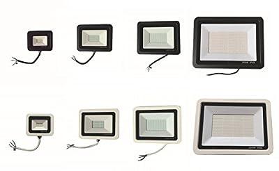 iLett LED Flood Light, 10W, 30W, 50W, 200W, Black and/or White UltraSlim, Instant on, 800lm to 16000lm, 6000K (Cool White), CE, RoHS, 110V