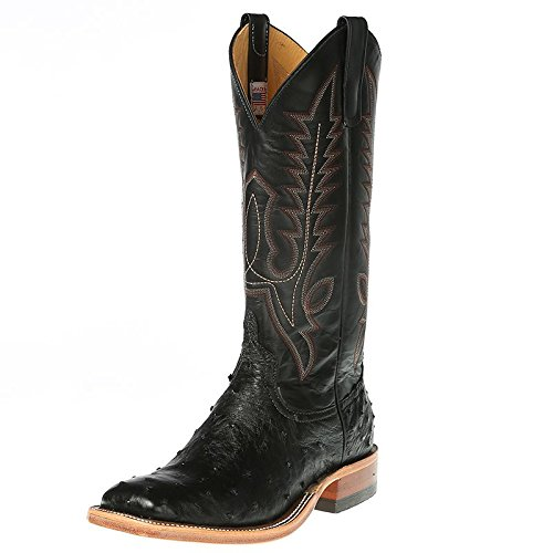 Anderson Bean Mens Full Quill Ostrich Cowboy Boots 9.5 EE...