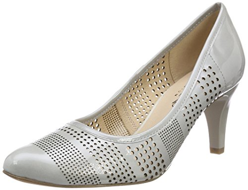 Grey Patent 242 Toe Lt Closed 22502 Caprice Grey Women's Pumps qwXOOv