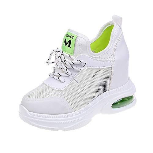 Primavera Arancio poliuretano ZHZNVX da passeggio Estate PU Green Punta Scarpe Bianco Verde rotonda Sneakers Scarpe donna Maglia da Comfort Creepers x1wSwTqYR