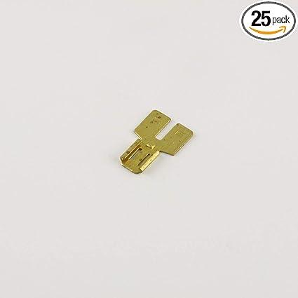 "12-10 Yellow VINYL QUICK DISCONNECT MALE .250  1//4/"" SPADE CONNECTOR 100 pcs"