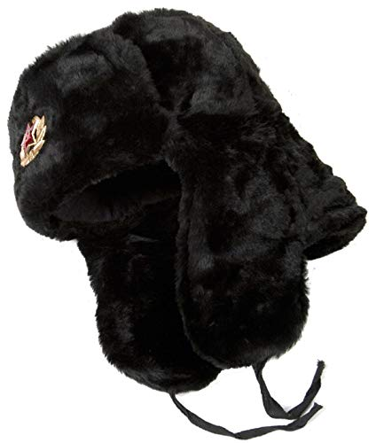 (Hat Russian Ushanka Black-54 Soviet Army soldier)