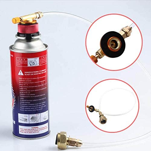 SHUNYUS Gas Tank Adapter Propane Refill Adapter Gas Stove Adapter European Standard Gas Cylinder Inflation Valve With Hose For Camping Gas Stove