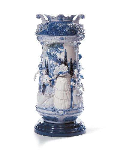 Lladro Ladies In The Garden Vase - Blue Re-Deco ()