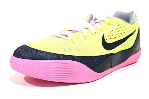 Nike Kobe Ix Em Gs Volt Gul Rosa Basketball Sko 653593 701 Size Fem Ungdoms / 7 Kvinners