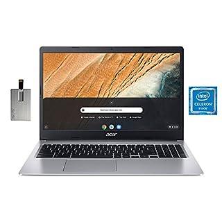"2020 Acer Chromebook 315 15.6"" HD Laptop Computer, Intel Celeron N4000 Processor, 4GB RAM, 32GB eMMC, HD Webcam, Intel UHD Graphics 600, Protective Sleeve, Bluetooth, Chrome OS, Grey, 32GB USB Card"
