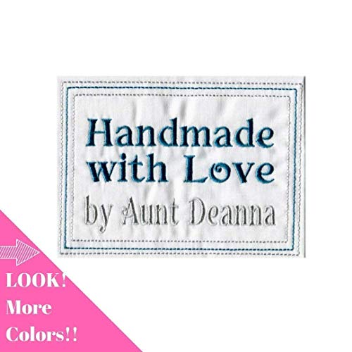 (Embroidered Baby Quilt Label Personalized Sewing Label for Handmade Items One 4 x 5 inch)