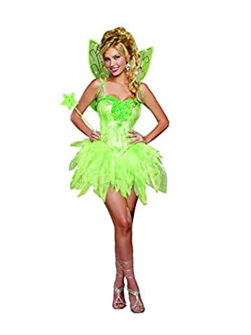 Dreamgirl Women's Fairy-Licious Costume, Green, Medium - Adult Dreamgirls Costume