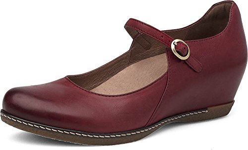 Dansko Women's Loralie Mary Jane Flat Red Burnished Nubuck enjoy for sale reliable sale online free shipping real muC70zHC
