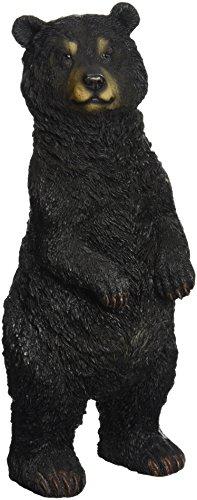 Design Toscano Black Bear Statue Standing, Multicolored